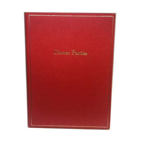 Hostess Book | Dinner Parties Book | Host Book | 9 by 7 | Leather Bound | Hand Made in England | Charing Cross Leather