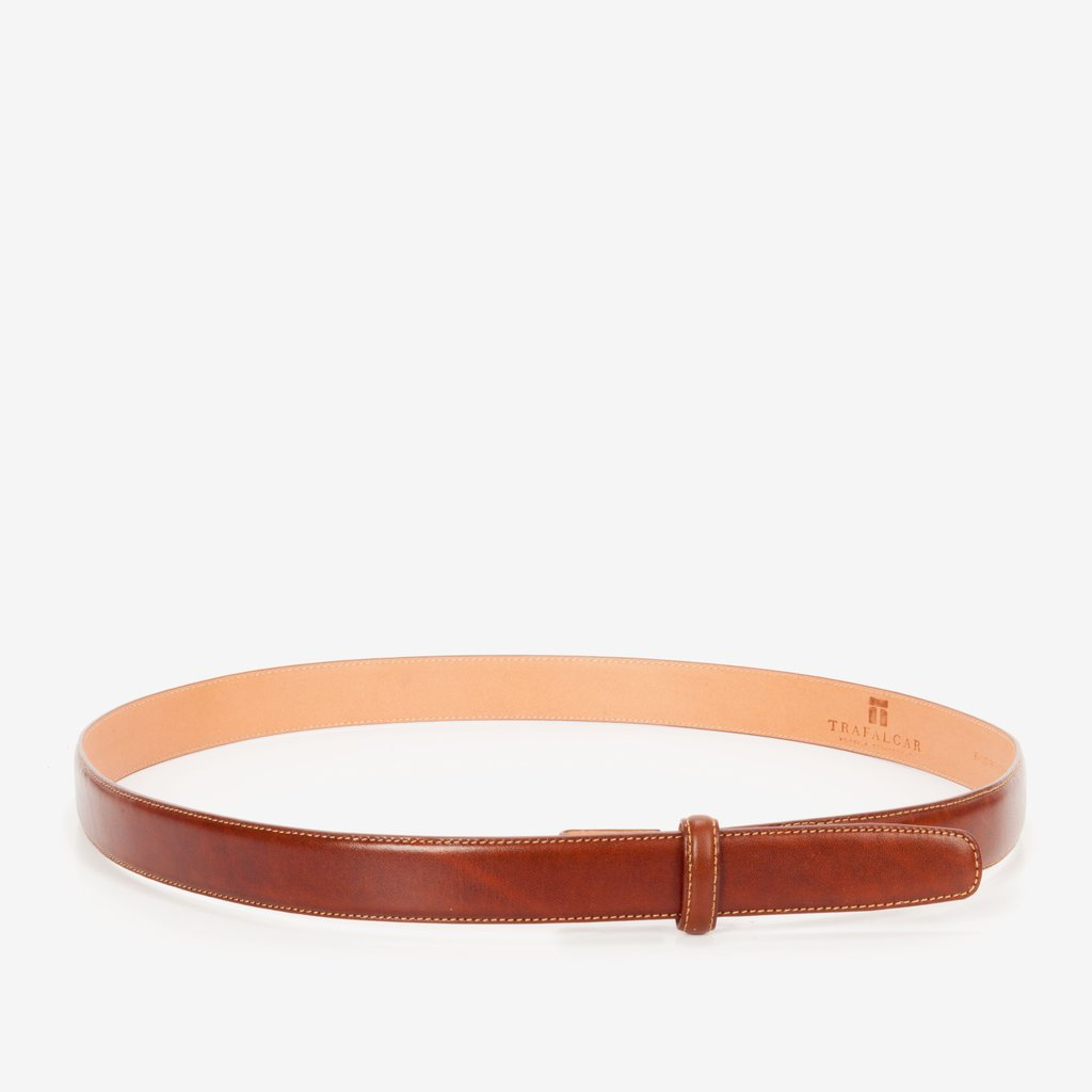 Cortina Leather, 1 Inch Belt Strap, Honey Maple-Belt Strap-Sterling-and-Burke