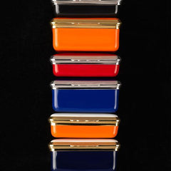 3 Inch Custom Enamel Box | Halcyon Days Bespoke Enamel Box | Custom Art Award | Corporate Gift Box | Interior: Message only | Halcyon Days in DC at Sterling and Burke-Enamel Box-Sterling-and-Burke
