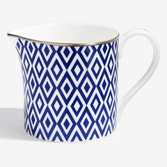 Halcyon Days Aragon Midnight Creamer Jug-Bone China-Sterling-and-Burke