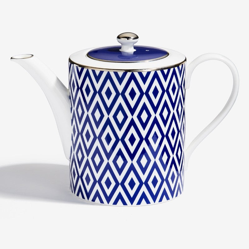 Halcyon Days Aragon Midnight Teapot-Bone China-Sterling-and-Burke