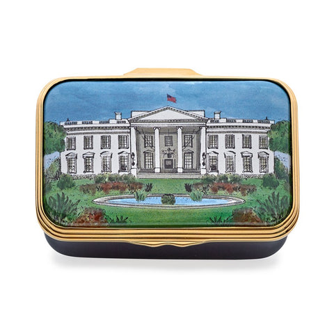 Hacyon Days White House in Summer Enamel Box-Enamel Box-Sterling-and-Burke