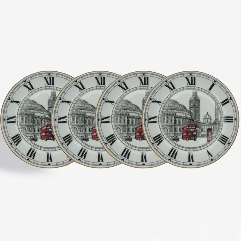 Halcyon Days The London Icons Coaster, Set of 4-Bone China-Sterling-and-Burke