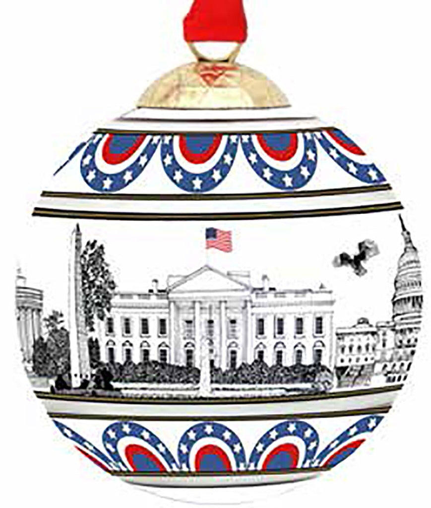 Halcyon Days Washington Skyline Bauble-Ornament-Sterling-and-Burke