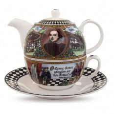 Fine English Bone China | Tea for One | Shakespeare | Halcyon Days | Made in England-Tea Set-Sterling-and-Burke
