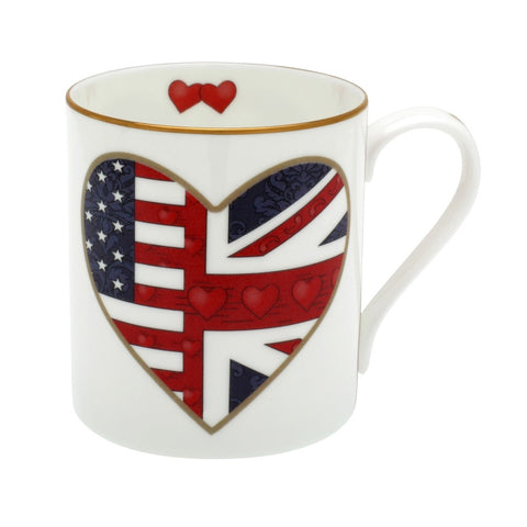 Fine English Bone China | Very Special Relationship Mug Set | 2 Mugs | Halcyon Days | Made in England-Mug-Sterling-and-Burke