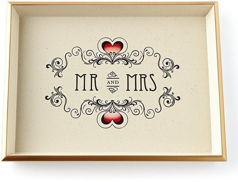Vanity Tray | Mr and Mrs | Trinket Tray  | Halcyon Days | Made in England