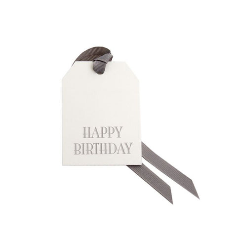 """Happy Birthday"" Gift Tag by Dempsey and Carroll-Stationery-Sterling-and-Burke"