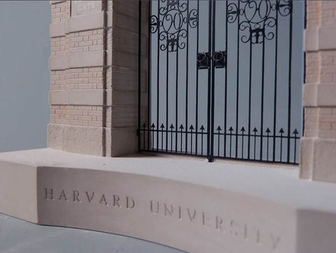 Harvard University Architectural Sculpture | Custom Harvard Bookend Plaster Model | Extraordinary Quality and Detail | Made in England | Timothy Richards-Desk Accessory-Sterling-and-Burke