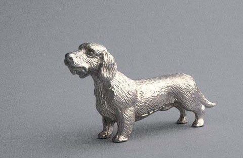 Hood Ornament | Dachshund | Mascot / Hood Ornament | Polished Antique Silver Finish | 2 by 4 Inches | Made in England