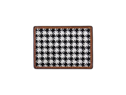 Needlepoint Collection | Houndstooth Needlepoint Card Wallet | 4 by 3 Inch | Smathers and Branson