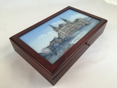 Georgetown University | Large Desk Box | Sample-Desk Accessory-Sterling-and-Burke