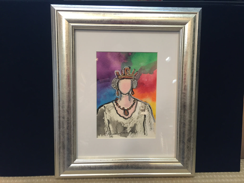 "Art | Friday Queen by Fabiano Amin | 7"" x 5""-Acrylic Painting-Sterling-and-Burke"