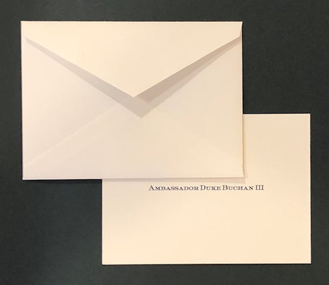 Bespoke Stationery | Gift Card and Envelope Set | Hand Engraved Bespoke Monogram | Sterling and Burke Ltd-Custom Stationery-Sterling-and-Burke