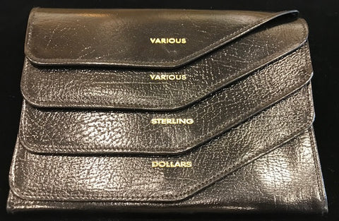 Travel Wallet | Currency Purse | Smooth Calf Leather | Made in England | Sterling and Burke-Travel Wallet-Sterling-and-Burke
