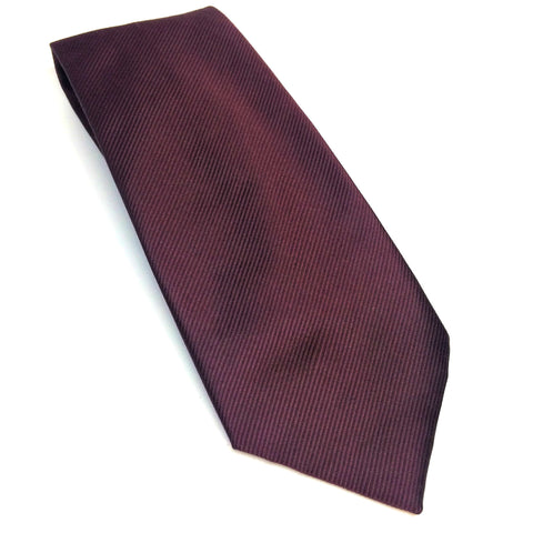 Maroon / Aubergine Silk Tie | Benson and Clegg | London-Necktie-Sterling-and-Burke
