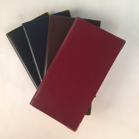 Passwords Address Book | Bonded Leather | 6 by 3 Inches | Hunter Green, Scarlet, Black, Brown, Navy, and Burgundy | Made in England | Charing Cross