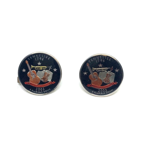 Tennessee Quarter Coin Cufflinks-Coin Cufflinks-Sterling-and-Burke