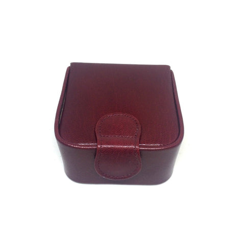 Square Stud Box with Single Compartment | Leather or Suede Lining | Made in England | Sterling and Burke
