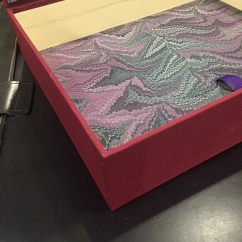 Bespoke Book Binding with Archival Box | Hand Marbleized Paper | Finest Quality Materials | Made in USA | Charing Cross-Photo Album-Sterling-and-Burke