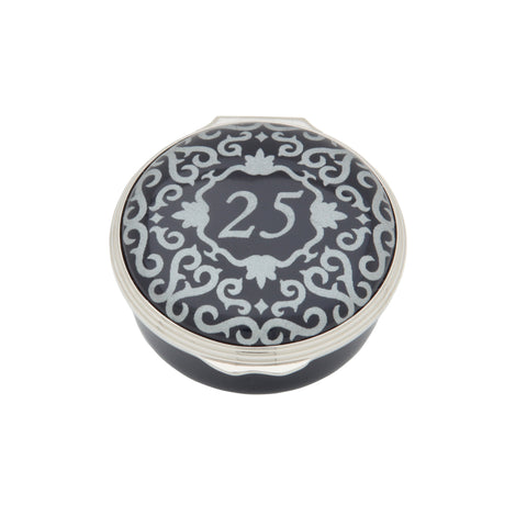 "Halcyon Days ""Number 25"" Enamel Box in Blue"