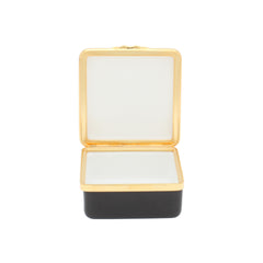 "Enamel Box | Contemporary ""Number 21"" Ivory Box 