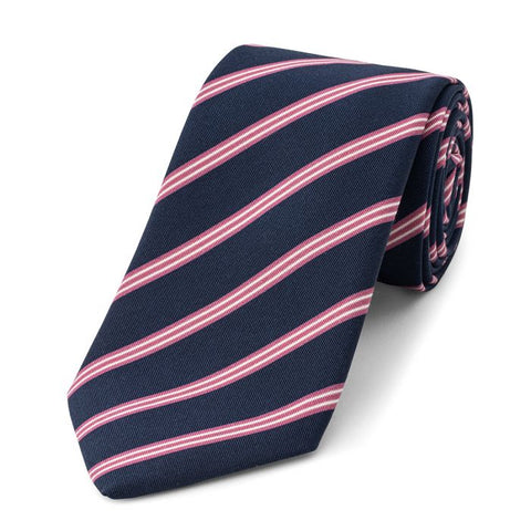 Budd Stripe Irish Poplin Tie, Various Colors-Necktie-Sterling-and-Burke
