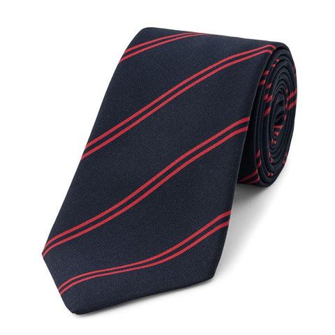 Budd Stripe Irish Poplin Tie, Various Colors