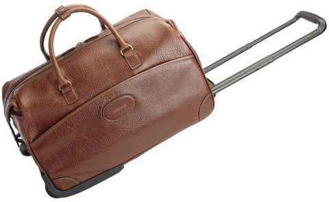 Edison Leather Wheeled Duffle