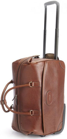 Edison Leather Wheeled Duffle-Wheeled Luggage-Sterling-and-Burke