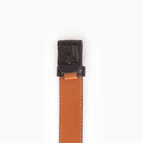 Genuine Java Lizard, 1 Inch Belt Strap, Black-Belt Strap-Sterling-and-Burke