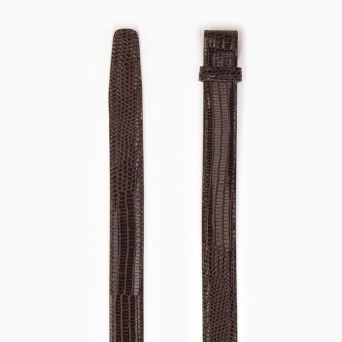 Genuine Java Lizard, 1 Inch Belt Strap, Brown-Belt Strap-Sterling-and-Burke