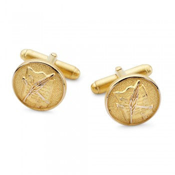 Legal Gilt T-Bar Cufflinks