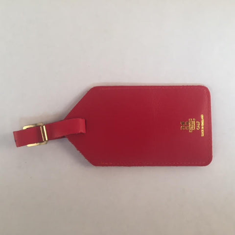Leather Luggage Tag | Luggage Tag | Made in England | Red, Green, Blue Leather | Charing Cross-Luggage Tag-Sterling-and-Burke