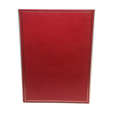 Leather Notebook with Gold Tooling | 8 by 10 Inches | Blank Pages | Multiple Colors | Textured Calf | Charing Cross-Notebooks-Sterling-and-Burke