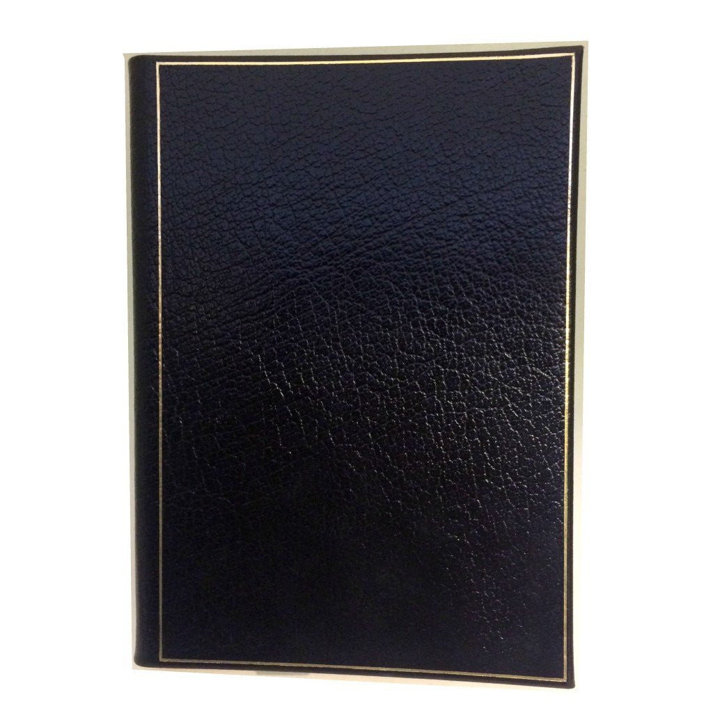 Leather Notebook, 8x6 | Lined Pages | Multiple Colors | Textured Calf | Charing Cross-Notebooks-Sterling-and-Burke