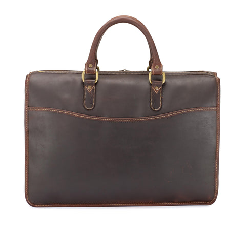 Tusting Marston Extra Large Leather Briefcase-Business Bags-Sterling-and-Burke