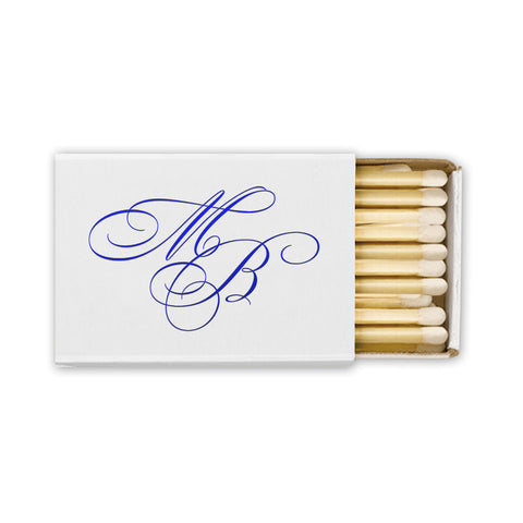 Wedding Matches | Printed Personalized Matches | 100 Boxes of Ecru / Ivory / Off White Matches | Made in America | Sterling & Burke-Stationery-Sterling-and-Burke