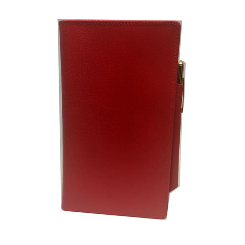 Leather Cover with Removable Notes and Pencil, 6x3"