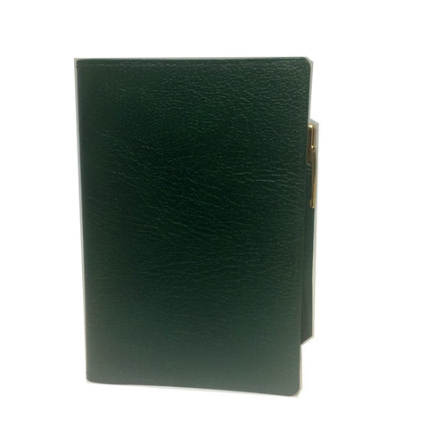 Leather Cover with Removable Notes and Pencil, 6x4"