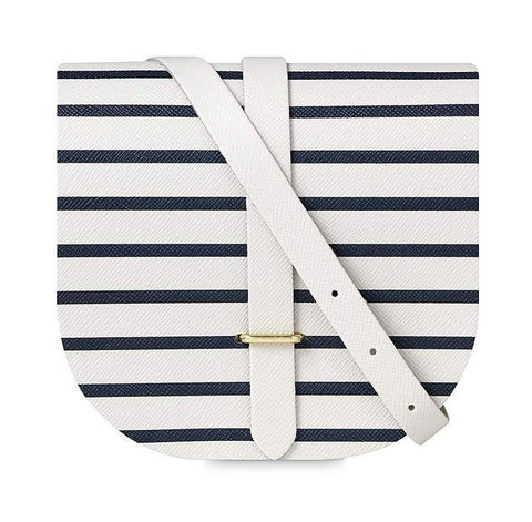Saddle Bag | Small | Breton Navy Stripe | Made in Great Britain | Sterling and Burke