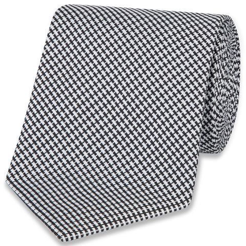 Neat Cross-Weave Woven Tie | Budd Shirtmakers | Made in England