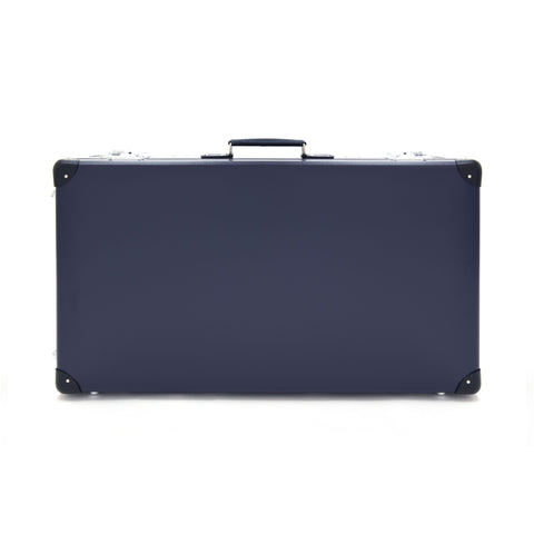 "Globe-Trotter Original 30"" Suitcase with Wheels in Navy"