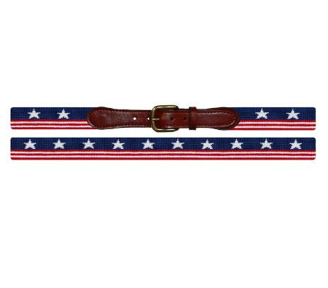 Old Glory Needlepoint Belt-Belt-Sterling-and-Burke