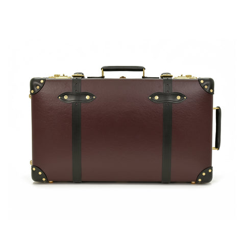 "Globe-Trotter Centenary 26"" Trolley Suitcase in Oxblood"