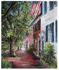 "Art | America, We Love You | Giclee by Claire Howard | 10"" x 8""-Giclee Print-Sterling-and-Burke"
