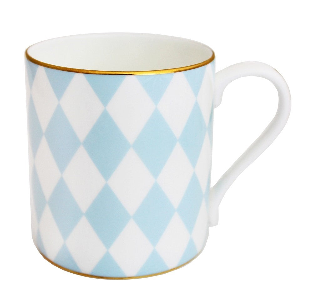 Fine Bone English China | Parterre Mug | Blue | Halcyon Days | Made in England-Mug-Sterling-and-Burke