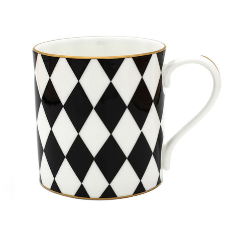 Fine Bone English China | Parterre Mug | Black | Halcyon Days | Made in England-Mug-Sterling-and-Burke