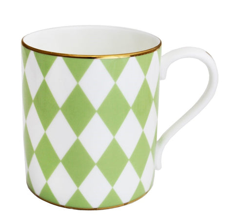 Fine Bone English China | Parterre Mug | Green | Halcyon Days | Made in England-Mug-Sterling-and-Burke