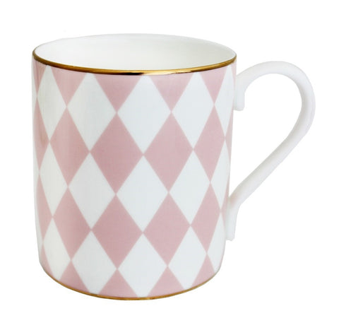 Fine Bone English China | Parterre Mug | Pink | Halcyon Days | Made in England-Mug-Sterling-and-Burke